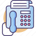 facsimile, facsimile machine, fax, fax machine, printer, printing, telephone icon
