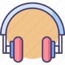headphone, headphones, headset, music icon