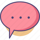 chat, communication, conversation, message, speech bubble, talk, text icon