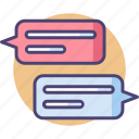 chat, chatting, comment, conversation, dialogue, messaging, speech bubbles icon