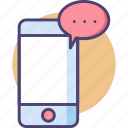 chatting, messaging, mobile, mobile messaging, sms, text, texting icon