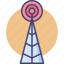 cell tower, network, receiver, telecommunication, tower icon