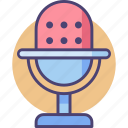 audio, mic, microphone, recorder, speech, voice, voice recorder icon