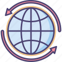 coverage, global, globe, world, worldwide, worldwide coverage icon