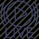 broadcast, radio, live, stream icon