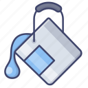 color, fill, tool, bucket icon