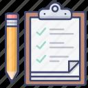 task, list, checklist, clipboard icon