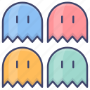 game, video, pacman, ghost icon