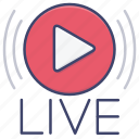 broadcast, radio, stream, live icon