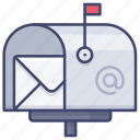 inbox, mailbox, mail, postbox icon