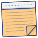 office, note, memo, notepad icon