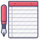 notes, notebook, notepad, stationary icon