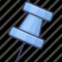 mark, location, pin, tack icon