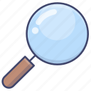glass, search, find, magnifying icon