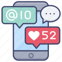 network, social, media, sharing icon