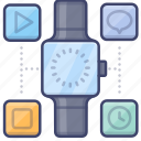 gadget, smart, watch, apps icon