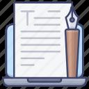 write, text, paper, word icon