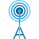 antenna, bradcast, communication, media, signal, technology, telecoms icon