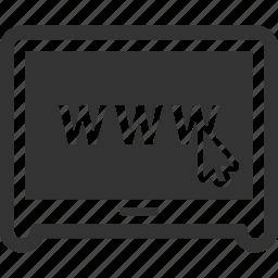 computer, internet, web page, website icon