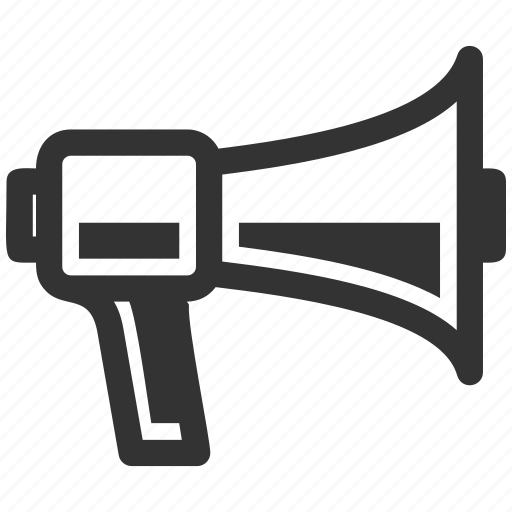 advertising, bullhorn, megaphone, news icon