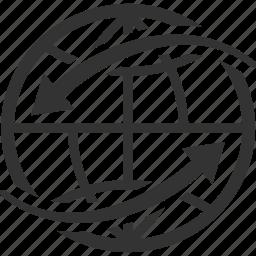global communication, globe, worldwide icon