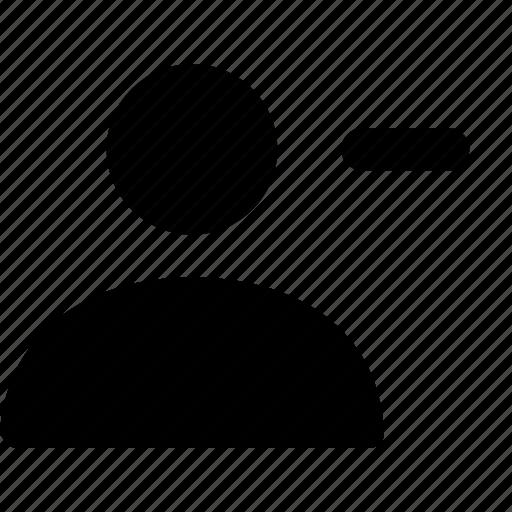 account, avatar, delete, people, person, profile, user icon
