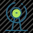 broadcast, satellite dish, signal, television icon