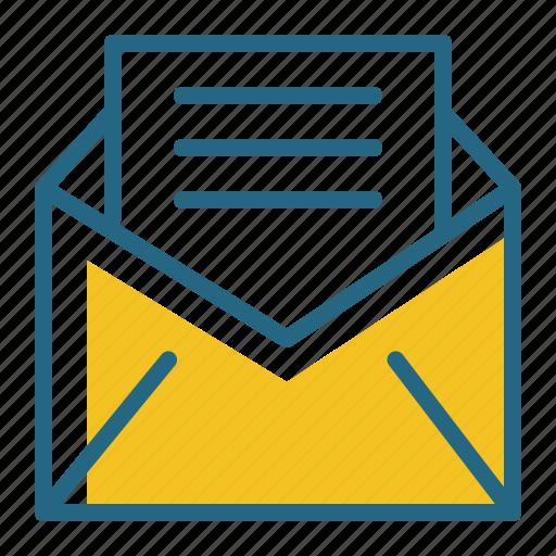 correspondence, envelope, letter, mail icon