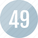 number, 49, count, track
