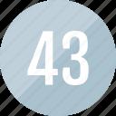 43, track, number