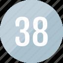 number, 38, track