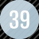 number, 39, track