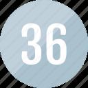 number, track, 36