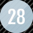 count, number, twenty, track, 28