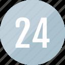 number, track, 24