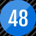 number, 48, numero icon