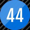 number, numero, 44