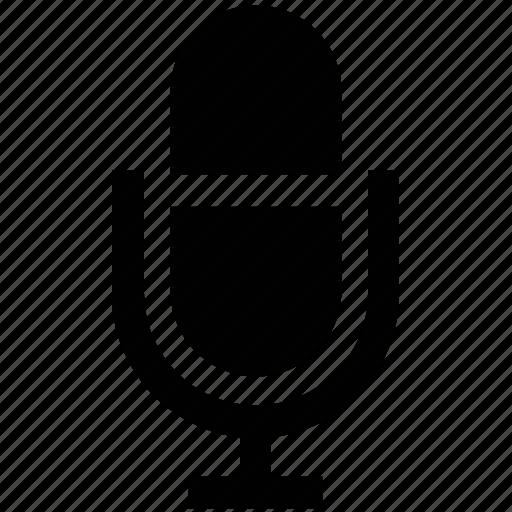 mic, microphone, mike, recording, retro icon