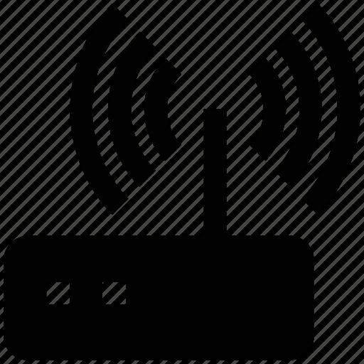 antenna, modem, router, wifi, wireless, wlan icon