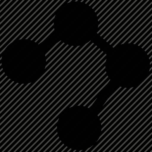 diagram, graph, graphic, structure icon