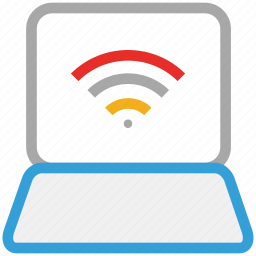 computer, internet availability, laptop, wireless internet icon