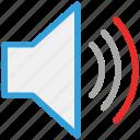 sound, up, volume, speaker