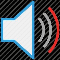 sound, speaker, up, volume icon