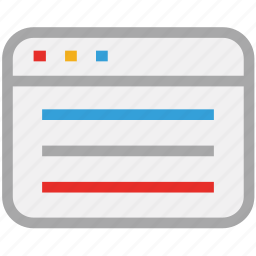 browser, web application, web page, website icon