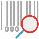 bar code, magnifier, magnifying glass, universal product code