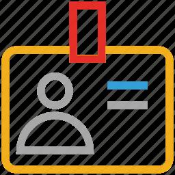 id, id badge, id card, identification icon