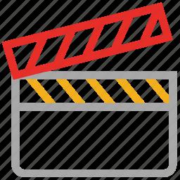 cinema, clapper, movie, video icon