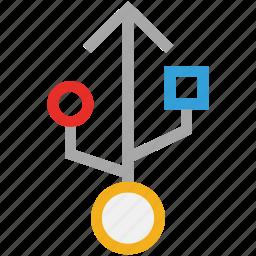 sign, usb, usb sign, usb symbol icon
