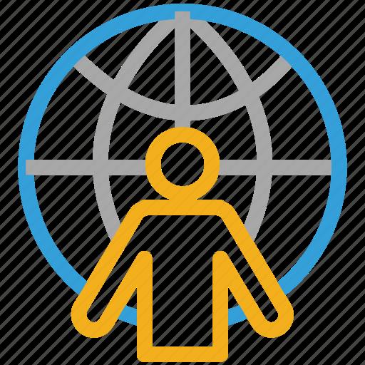 account, global person, profile, user icon