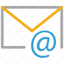 email, email sign, mail, mailing icon
